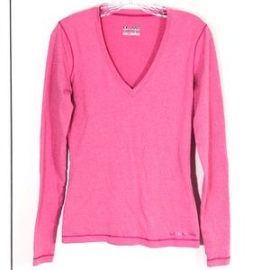 Under Armour Pink Fitted Athletic Shirt